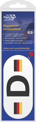 Magnetic Nationality Plate - German