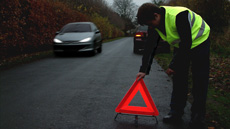 Motoring LAW in France and many other European Countries now requires all vehicles to carry a Warning Triangle and a Reflective Vest